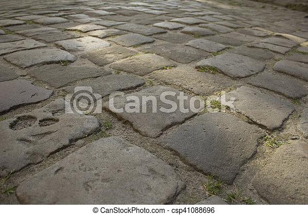 pavers on the square in Lviv - csp41088696