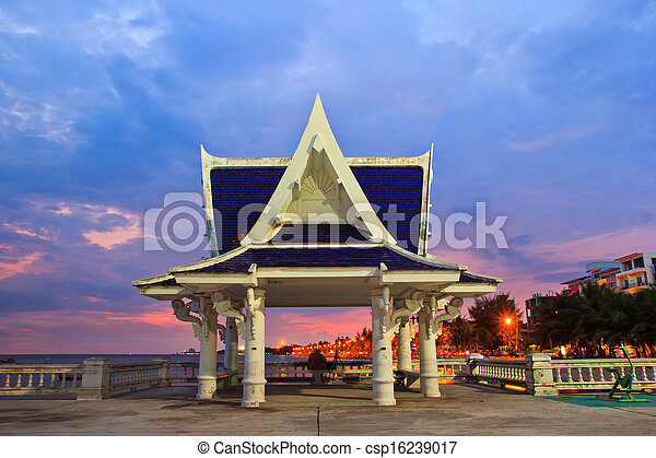 pavilion is located near the seaside,Thailand - csp16239017