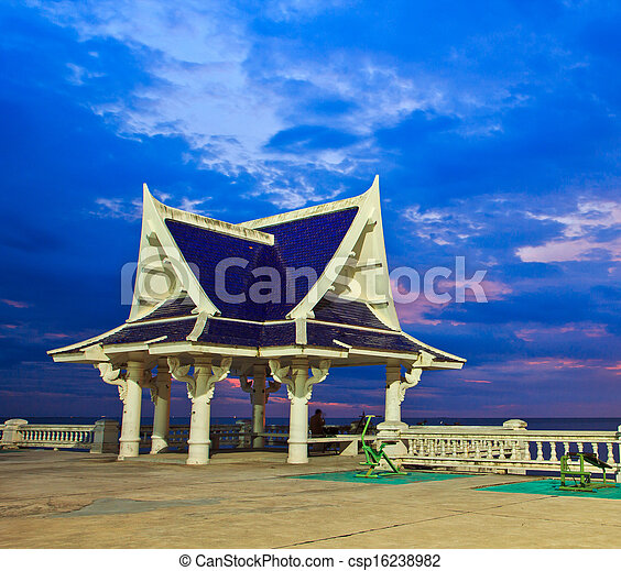 pavilion is located near the seaside,Thailand - csp16238982