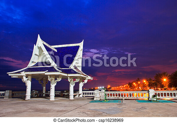 pavilion is located near the seaside,Thailand - csp16238969