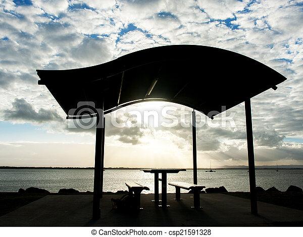Pavilion near the beach - csp21591328