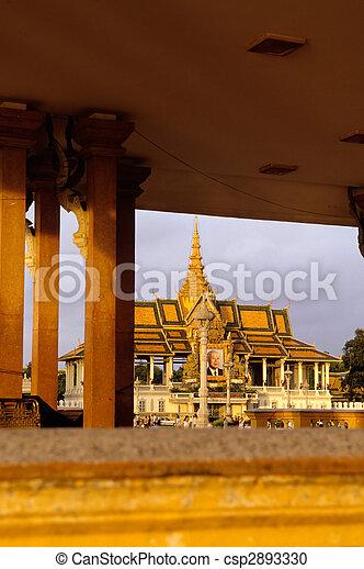 Pavilion- Phnom Penh, Cambodia - csp2893330