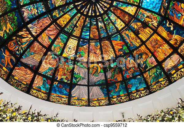 pavilion with stained glass - csp9559712