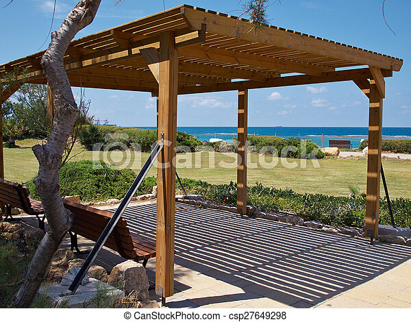 pavillon pergola klassisch gazebo modern sandstrand. Black Bedroom Furniture Sets. Home Design Ideas