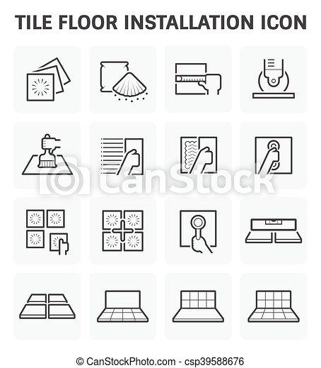 pavimentare pavimento, icona - csp39588676