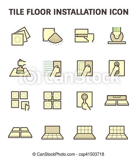 pavimentare pavimento, icona - csp41503718