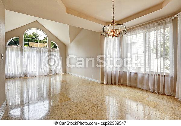 pavimento, casa, moderno, interno, piastrella, marmo, vuoto - csp22339547
