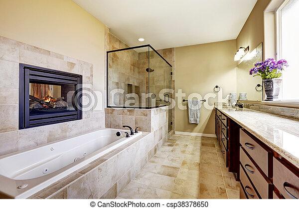 7c988b99ca Pavimento Stanza Bagno, Casa, Moderno, Maestro, Piastrella, Caminetto