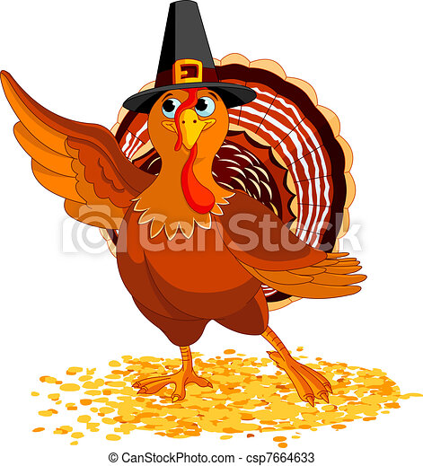 Presentación de pavo de Acción de Gracias - csp7664633