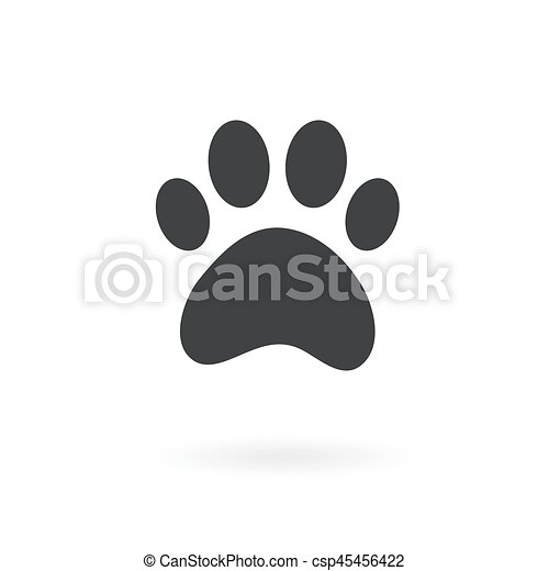 paw icon on the background , vector - csp45456422