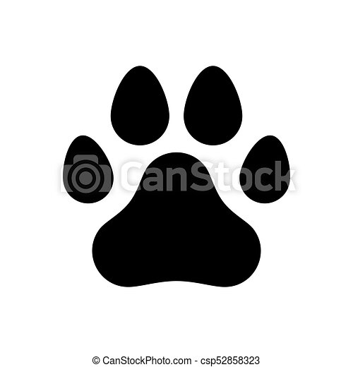 paw of a dog a trace of a dog paw logo symbol sign vector rh canstockphoto com dog paw logo du Dog Paw Print Pattern