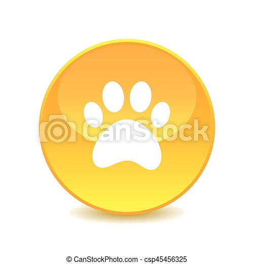 paw , paw icon on the background , vector - csp45456325