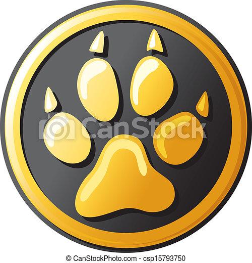 paw print button (icon) - csp15793750