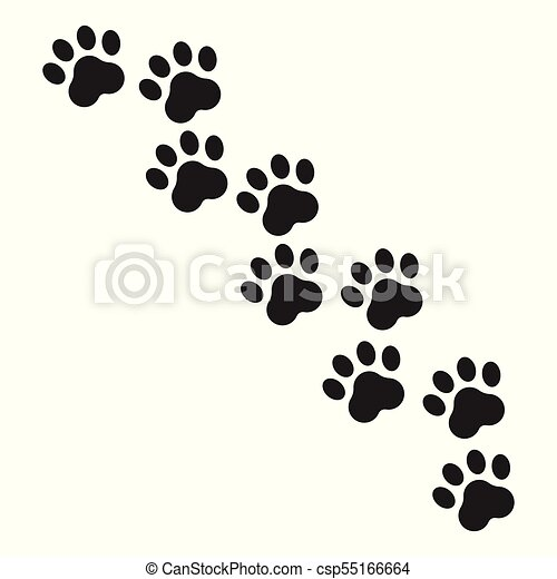 paw print vector icon dog or cat pawprint illustration clip art rh canstockphoto com dog paw print vector png dog paw print vector artwork