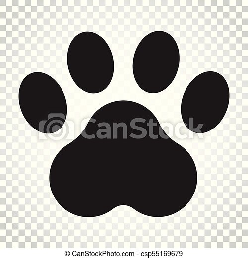 paw print vector icon dog or cat pawprint illustration vectors rh canstockphoto co uk dog paw print vector artwork dog paw print vector art free