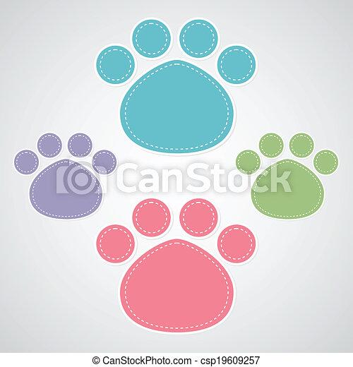 paw prints - csp19609257