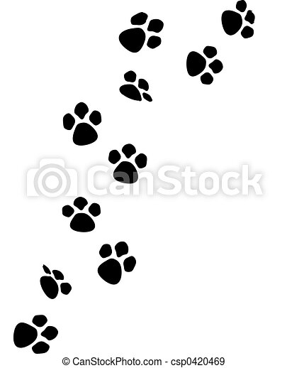 Dog paw prints clipart dog paw print clipart 2 image - WikiClipArt