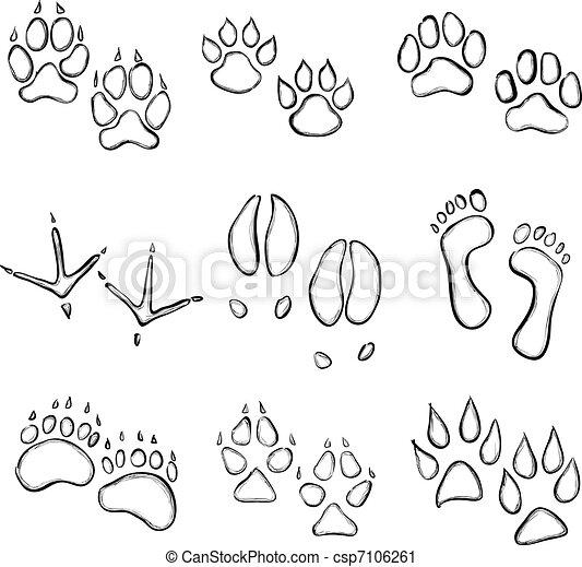 paw prints - csp7106261