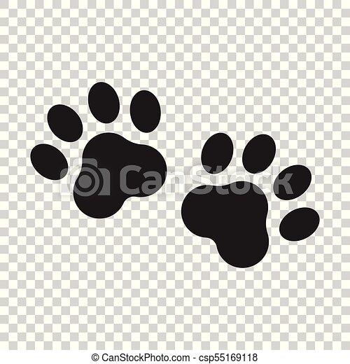 Pawprint Illustration Patte Chien Chat Vecteur Copie Animale Icon Silhouette Ou