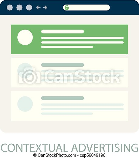 Pay Per Click icon, contextual advertising - ppc online marketing concept - csp56049196