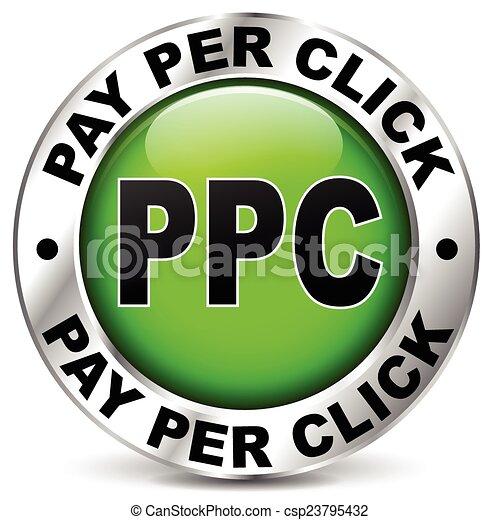 pay per click icon - csp23795432