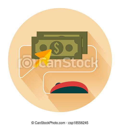 Pay per click internet advertising model - csp18556245
