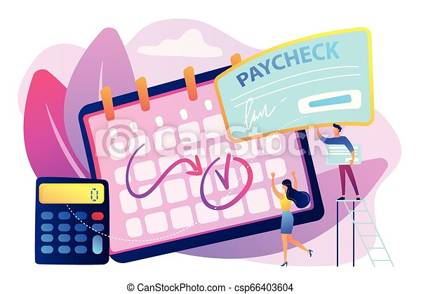 Paycheck concept vector illustration