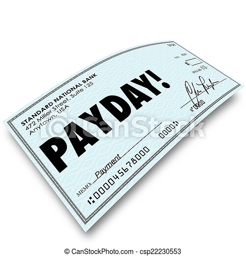 payday check money payment earnings work compensation payday word