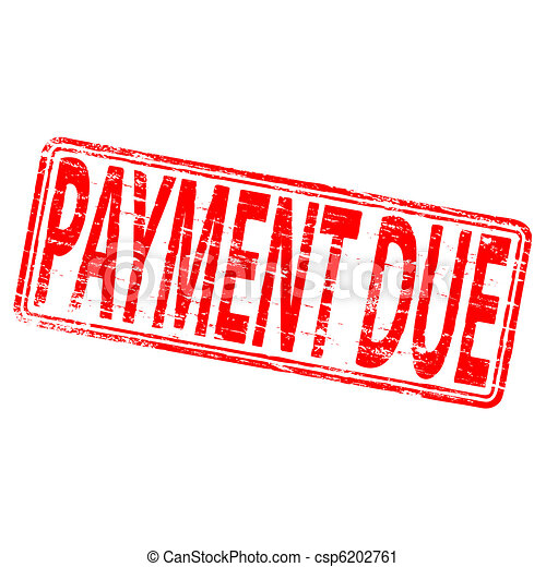 Payment Due Stamp - csp6202761