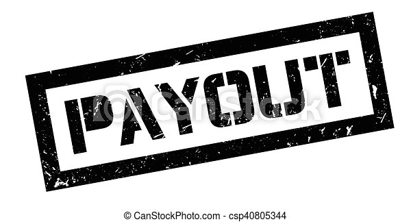 Payout rubber stamp - csp40805344