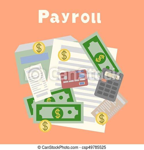 Payroll Invoice Sheet Flat Design Payroll Invoice Sheet Flat - Invoice finance calculator