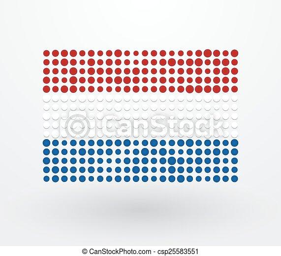 pays-bas, d, haut, drapeau, fait, petit - csp25583551