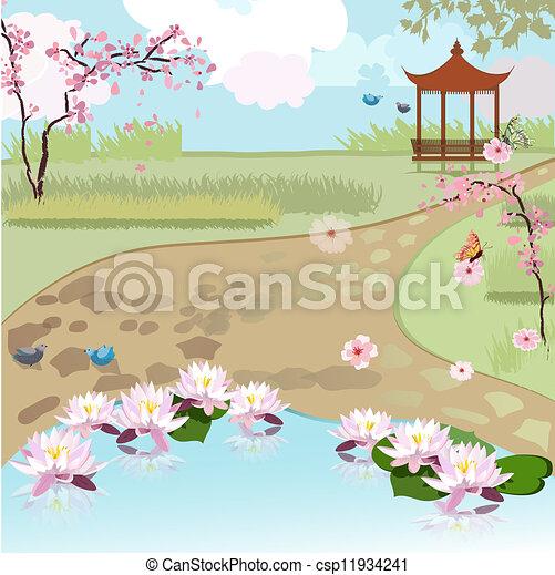 paysage, asiatique, beau - csp11934241
