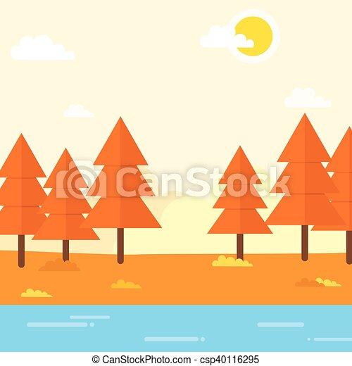 paysage automne, fond - csp40116295