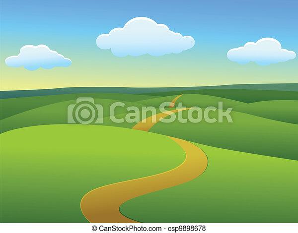 paysage, beau - csp9898678