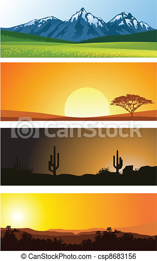 paysage, fond - csp8683156