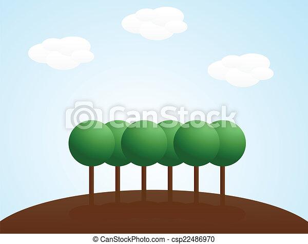 paysage, fond - csp22486970