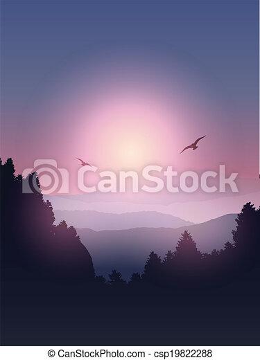 paysage, fond - csp19822288