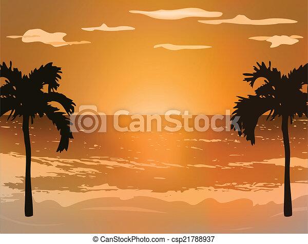 paysage, fond - csp21788937
