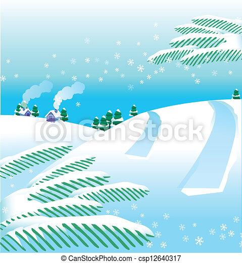 paysage hiver - csp12640317