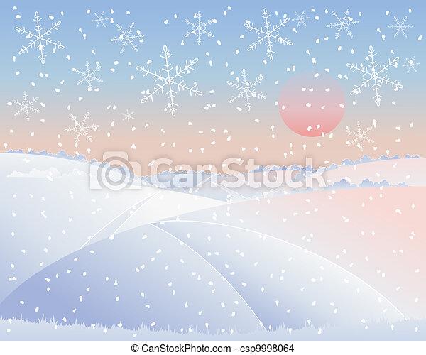 paysage, hiver, route - csp9998064