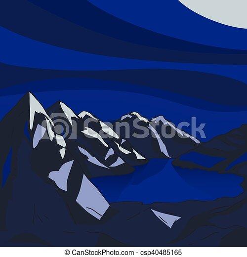 paysage illustration montagne moderne lac vecteur clip art vectoriel rechercher des. Black Bedroom Furniture Sets. Home Design Ideas
