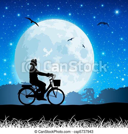 paysage, lune - csp5737943