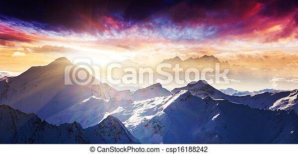 paysage montagne - csp16188242