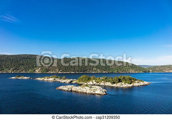 paysage, oslofjord - csp31209350
