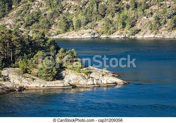 paysage, oslofjord - csp31209356