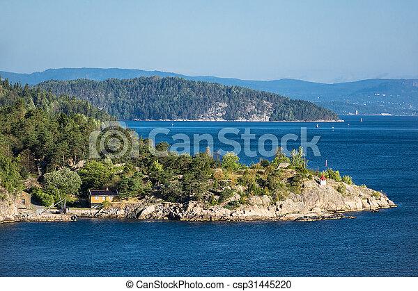 paysage, oslofjord - csp31445220