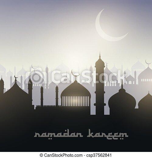 paysage, ramadan, fond - csp37562841