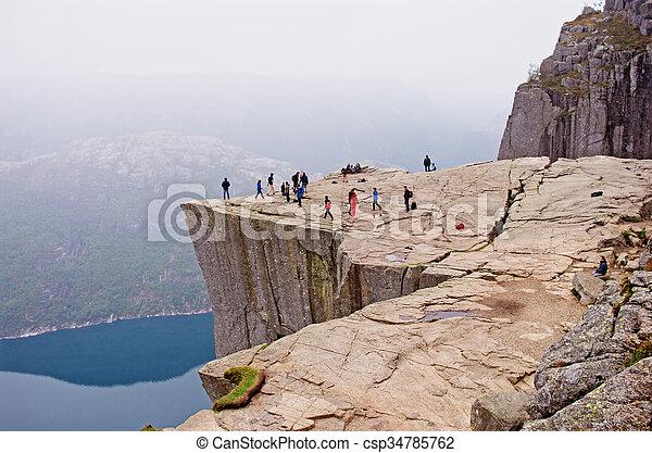paysages, mountains.preikestolen, norvège - csp34785762