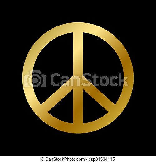paz, aislado, pacifism, símbolo, señal, hippie - csp81534115